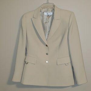 Tan tahari suit 10 petite lined